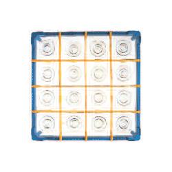 Gläserkorb Typ B, nur für zylindr. Gläser, Höhe: 100-130 mm für 16 Gläser ohne Schrägsteller