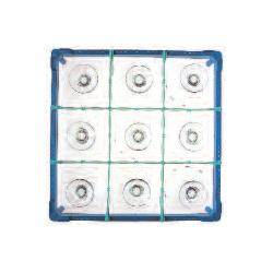 Gläserkorb Typ B, nur für zylindr. Gläser, Höhe: 100-130 mm für 9 Gläser ohne Schrägsteller