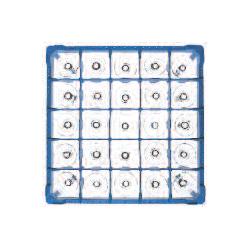 Gläserkorb Typ B, nur für zylindr. Gläser, Höhe: 100-130 mm für 25 Gläser ohne Schrägsteller