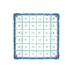 Gläserkorb Typ B, nur für zylindr. Gläser, Höhe: 100-130 mm für 36 Gläser ohne Schrägsteller