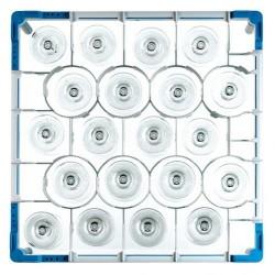 Gläserkorb Typ B2+C, Glashöhe: 110-160 mm für 20 Gläser ohne Schrägsteller
