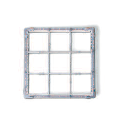 Glaskorb Typ B Glashöhe bis 120 mm, 130 mm, 140 mm, 150 mm, 160 mm, 170 mm